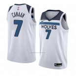 Camiseta Minnesota Timberwolves Isaiah Canaan #7 Association 2018 Blanco