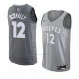Camiseta Minnesota Timberwolves James Nunnally (2) #12 Ciudad 2018 Gris