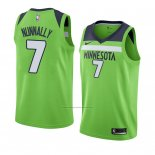 Camiseta Minnesota Timberwolves James Nunnally #7 Statement 2018 Verde