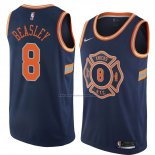 Camiseta New York Knicks Michael Beasley #8 Ciudad 2018 Azul