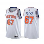 Camiseta New York Knicks Taj Gibson #67 Statement Blanco