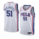 Camiseta Philadelphia 76ers Boban Marjanovic #51 Association 2018 Blanco