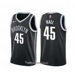 Camiseta Brooklyn Nets Donta Hall #45 Icon 2020 Negro