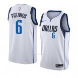 Camiseta Dallas Mavericks Kristaps Porzingis #6 Association 2018-19 Blanco