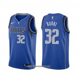 Camiseta Dallas Mavericks Trey Burke #32 Icon 2020 Azul
