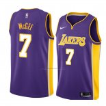 Camiseta Los Angeles Lakers Javale Mcgee #7 Statement 2018 Violeta