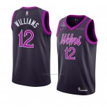 Camiseta Minnesota Timberwolves C. J. Williams #12 Ciudad 2018-19 Violeta