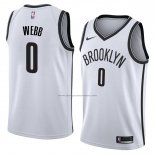Camiseta Brooklyn Nets James Webb #0 Association 2017-18 Blanco