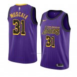Camiseta Los Angeles Lakers Mike Muscala #31 Ciudad 2018-19 Violeta