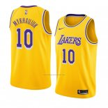 Camiseta Los Angeles Lakers Sviatoslav Mykhailiuk #10 Icon 2018-19 Amarillo