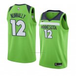 Camiseta Minnesota Timberwolves James Nunnally #12 Statement 2017-18 Verde