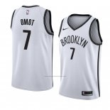 Camiseta Brooklyn Nets Nuni Omot #7 Association 2018 Blanco