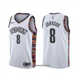 Camiseta Brooklyn Nets Tyler Johnson #8 Ciudad 2020 Blanco