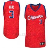 Camiseta Leopard Light Loco Los Angeles Clippers Chris Paul #3 Rojo