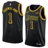 Camiseta Los Angeles Lakers Kentavious Caldwell Pope #1 Ciudad 2018 Negro