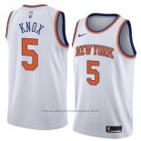 Camiseta New York Knicks Kevin Knox #5 Statement 2018 Blanco