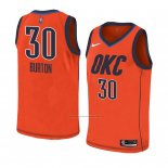 Camiseta Oklahoma City Thunder Deonte Burton #30 Earned 2018-19 Naranja