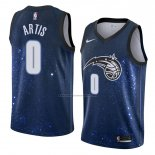 Camiseta Orlando Magic Jamel Artis #0 Ciudad 2018 Azul