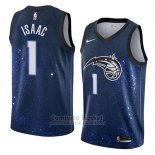 Camiseta Orlando Magic Jonathan Isaac #1 Ciudad 2018 Azul