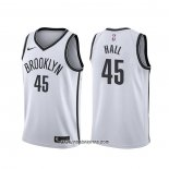 Camiseta Brooklyn Nets Donta Hall #45 Association 2020 Blanco