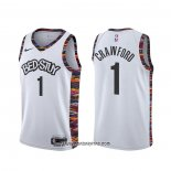Camiseta Brooklyn Nets Jamal Crawford #1 Ciudad Blanco