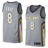 Camiseta Cleveland Cavaliers Channing Frye #8 Ciudad 2018 Gris