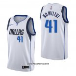 Camiseta Dallas Mavericks Dirk Nowitzki #41 Association Blanco