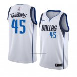 Camiseta Dallas Mavericks Ryan Broekhoff #45 Association 2018-19 Blanco