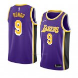 Camiseta Los Angeles Lakers Rajon Rondo #9 Statement 2018-19 Violeta