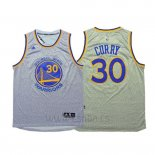 Camiseta Moda Estatica Golden State Warriors Stephen Curry #30 Gris
