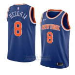 Camiseta New York Knicks Mario Hezonja #8 Icon 2018 Azul
