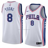 Camiseta Philadelphia 76ers James Young #8 Association 2018 Blanco