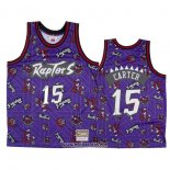 Camiseta Toronto Raptors Vince Carter #15 Hardwood Classics Tear Up Pack Violeta