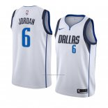 Camiseta Dallas Mavericks Deandre Jordan #6 Association 2018-19 Blanco