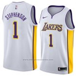 Camiseta Los Angeles Lakers Lance Stephenson #1 Association 2018 Blanco