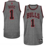 Camiseta Moda Estatica Chicago Bulls Derrick Rose #1 Gris2