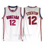Camiseta NCAA Gonzaga University John Stockton #12 Blanco