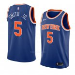 Camiseta New York Knicks Dennis Smith Jr. #5 Icon 2018 Azul