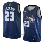 Camiseta Orlando Magic Justin Jackson #23 Ciudad 2018 Azul