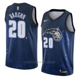 Camiseta Orlando Magic Rashad Vaughn #20 Ciudad 2018 Azul