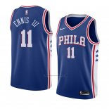 Camiseta Philadelphia 76ers James Ennis Iii #11 Icon 2018 Azul