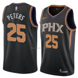 Camiseta Phoenix Suns Alec Peters #25 Statement 2018 Negro