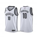 Camiseta Brooklyn Nets Justin Anderson #10 Association Blanco