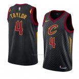 Camiseta Cleveland Cavaliers Isaiah Taylor #4 Statement 2018 Negro