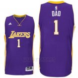 Camiseta Dia del Padre Los Angeles Lakers DAD #1 Violeta