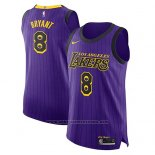 Camiseta Los Angeles Lakers Kobe bryant #8 Ciudad 2018-19 Violeta