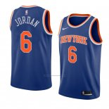 Camiseta New York Knicks Deandre Jordan #6 Icon 2018 Azul