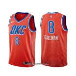 Camiseta Oklahoma City Thunder Danilo Gallinari #8 Statement Naranja