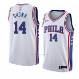 Camiseta Philadelphia 76ers Anthony Marron #14 Association 2018 Blanco