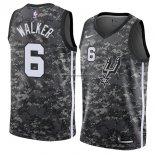 Camiseta San Antonio Spurs Lonnie Walker #6 Ciudad 2018 Gris